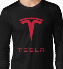 Tesla Car Logo Long Sleeve T-Shirt
