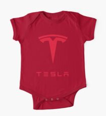Tesla Car Logo Kids Clothes
