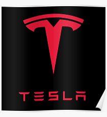 Tesla Car Logo Poster