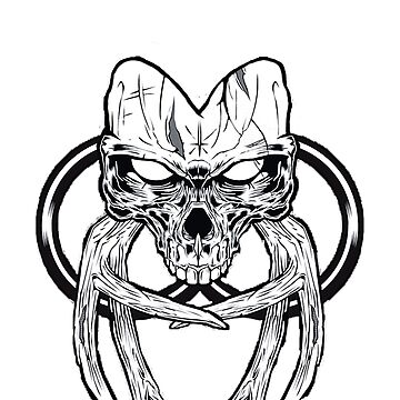 Skull with Antlers by acolyte