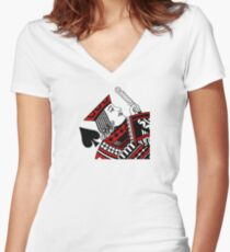 jack of spades Women's Fitted V-Neck T-Shirt
