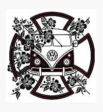 VW Hibiscus Split screen Photographic Print