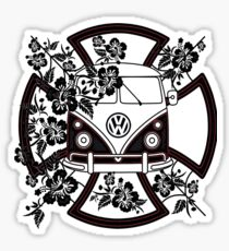 VW Hibiscus Split screen Sticker