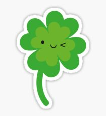 Kawaii Lucky Four Leaf Clover Sticker