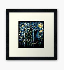 Starling Night (Arrow & Van Gogh) Framed Print