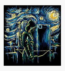 Starling Night (Arrow & Van Gogh) Photographic Print