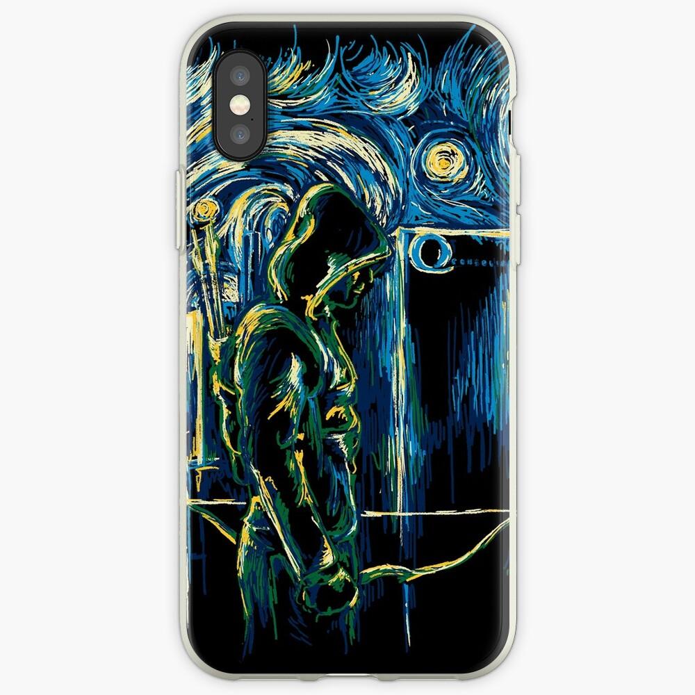 Starling Night (Arrow y Van Gogh) Vinilos y fundas para iPhone