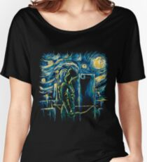Starling Night (Arrow & Van Gogh) Women's Relaxed Fit T-Shirt