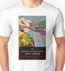 Vintage Travel Poster - the Yangtze Gorge (1935) Unisex T-Shirt