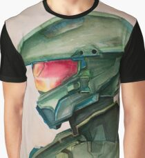 Master Chief Watercolor Graphic T-Shirt