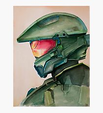 Master Chief Watercolor Photographic Print
