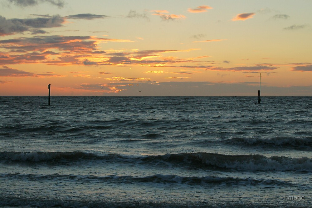 Sunset over the Sea by JImage