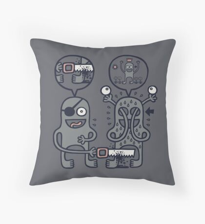To Attain Higher Perspective Through Detachment Throw Pillow
