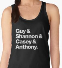 Guy & Shannon & Casey & Anthony. (Blk) Women's Tank Top