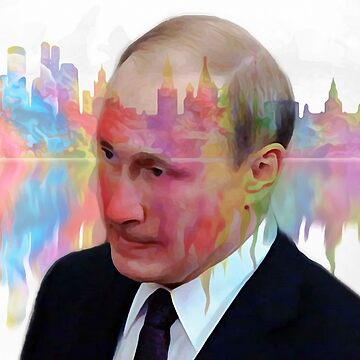 V. Putin on transparent Moscow background 007 04 03 17 by algirdasdesign