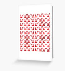 Mitzi red and white, pattern Greeting Card