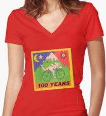 100 Years Women's Fitted V-Neck T-Shirt