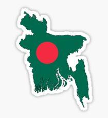 bangladesh Map Flag Sticker