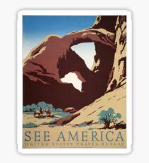 Vintage Travel Poster - See America (1938) Sticker