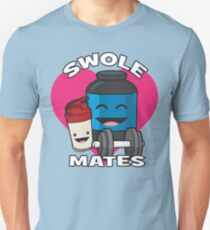 Swole Mates (Heart) - Protein Shake Unisex T-Shirt