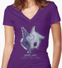 Never One... Without the Other Women's Fitted V-Neck T-Shirt