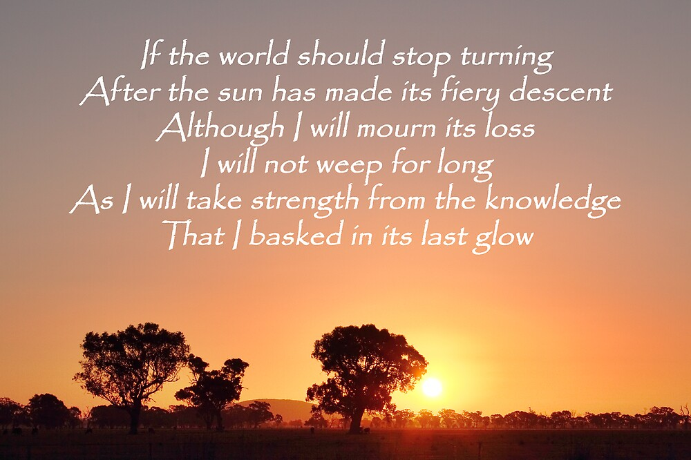 If the world should stop turning.... by David Haviland