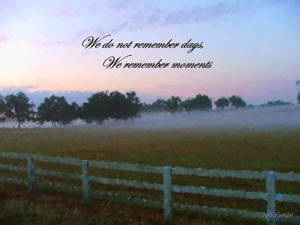 Remember by Judy Gayle Waller