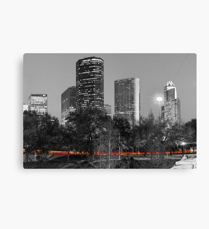 Passing Through - Houston Texas - Selective Coloring Canvas Print