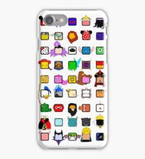 character squares iPhone Case/Skin