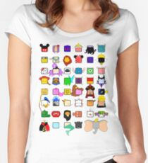 character squares Women's Fitted Scoop T-Shirt