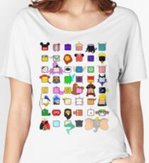 character squares Women's Relaxed Fit T-Shirt