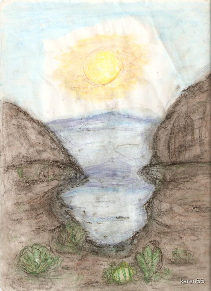 Arizona Canyon Drawing by karen66