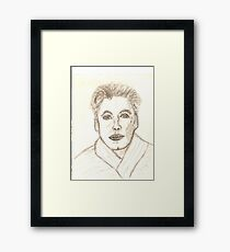 Portrait of Ken Drawing Framed Print