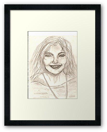 Portrait of Vivianne Drawing by karen66