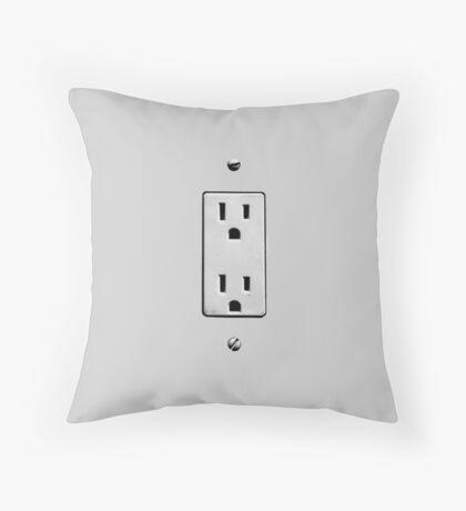 plug into me Throw Pillow