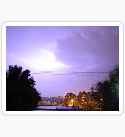 Purple Storm & Lightning Sticker