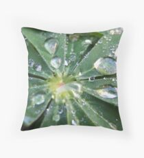 Catching water Throw Pillow