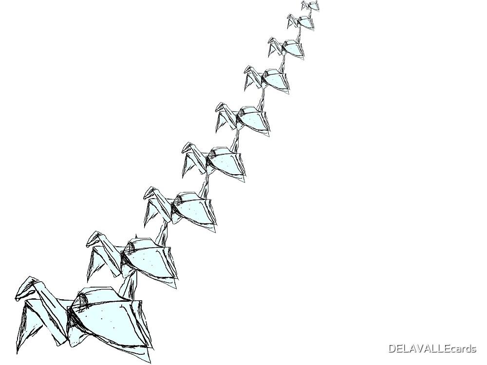 Origami Cranes 1 by DELAVALLEcards