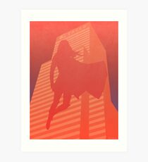 Supergirl Red Silhouette Art Print