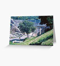 Theatre, Epidauros, Peloponnese, Greece 1960 Greeting Card