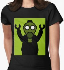 Apocalyse Minifigure wearing Gasmask Womens Fitted T-Shirt