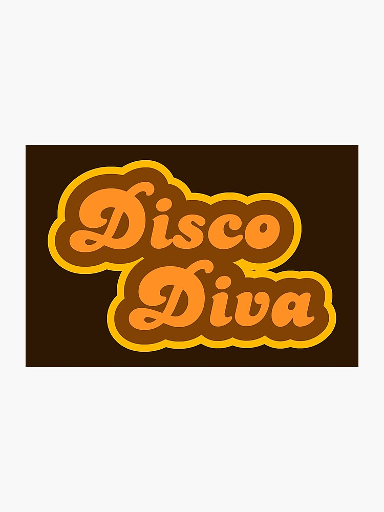 Disco Diva - Retro 70s - Logo   Photographic Print