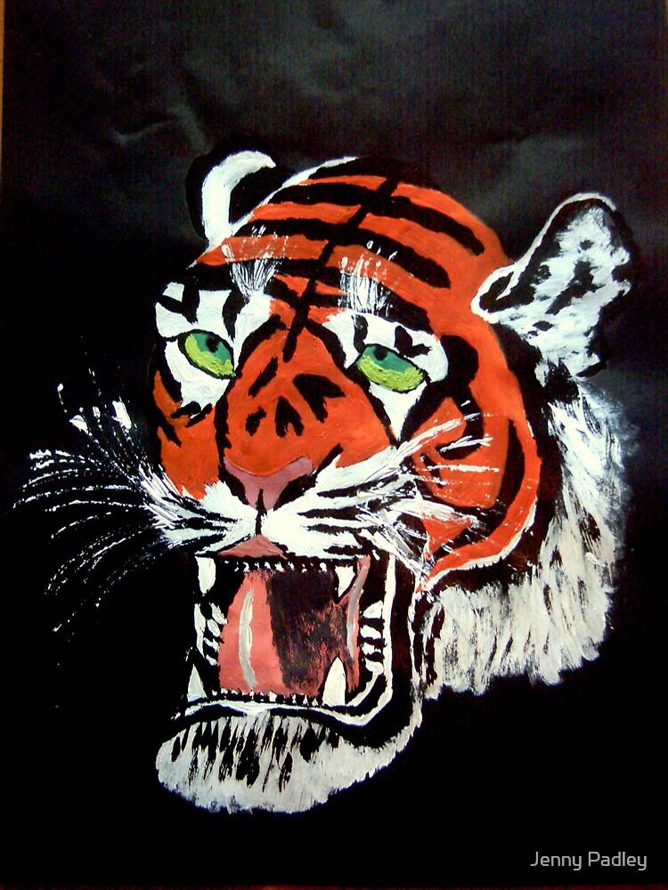 Tiger head by Jenny Padley