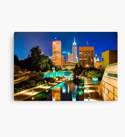 Indy of Lights - Indianapolis Downtown Skyline Canvas Print