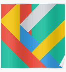 Modern material design vector background Poster