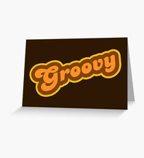 Groovy - Retro 70s - Logo Greeting Card