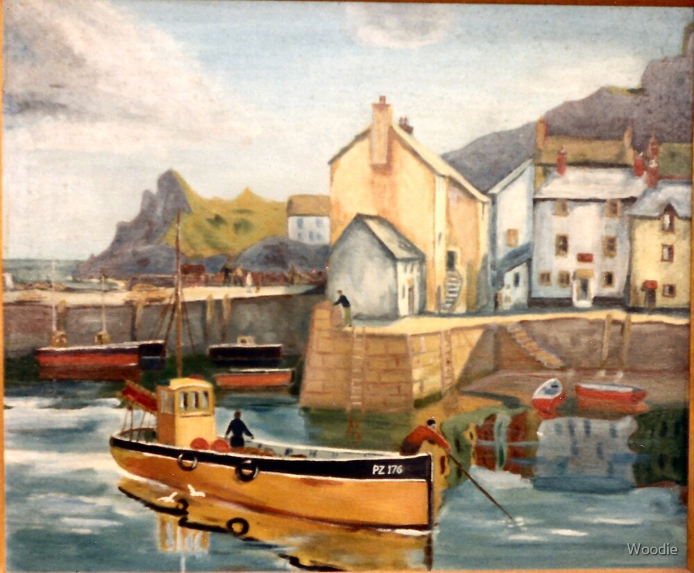 Fishing Boats Polperro by Woodie