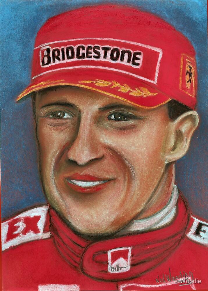 Schumacher in pastel  by Woodie