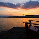 Sunset - Adirondack Chair - Basin Harbor Resort by Stephen Beattie