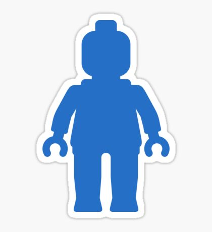 Minifig [Large Blue], Customize My Minifig Sticker